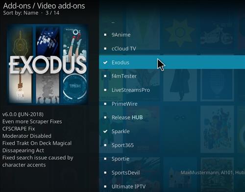 How To Install Exodus Addon Into Kodi 17.6 Krypton step 18