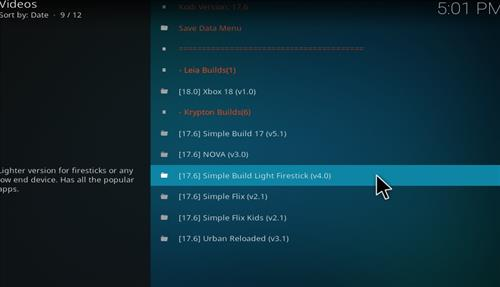 How to Install Simple Build Light Firestick with Screenshots step 17