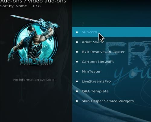 How to Install Subzero Kodi Add-on with Screenshots – Whyingo Kodi