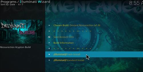 how to install illuminati kodi build step 25
