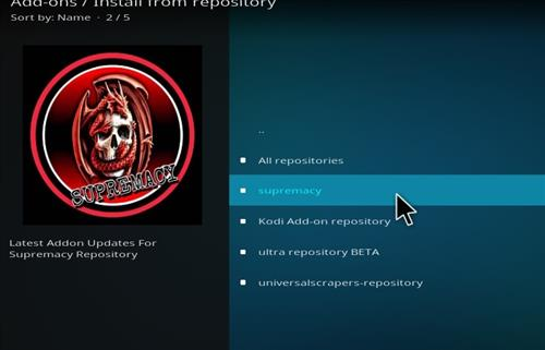 How to Install Supremacy Kodi Add-on with Screenshots step 16