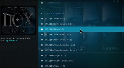How to Install BK Nox Kodi Build with Screenshots step 17