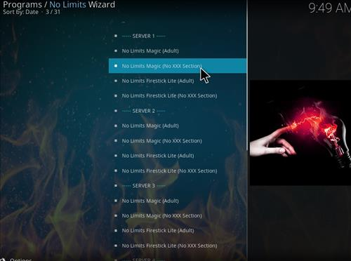 How to Install No Limits Magic Build Kodi Krypton step 17