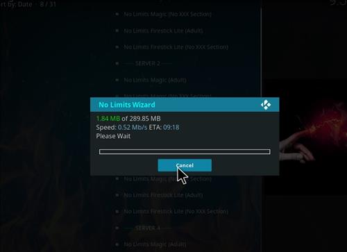 How to Install No Limits Magic Build Kodi Krypton step 18