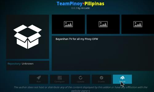 How to Install Team Pinoy Pilipinas Kodi Add-on with Screenshots step 23