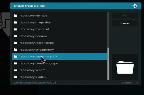 manual and download supremacy repo step 5