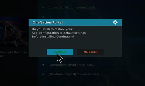 How to Install Continuum Kodi Build with Screenshots step 24