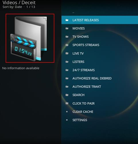 How to Install Deceit Kodi Add-on with Screenshots pic 2