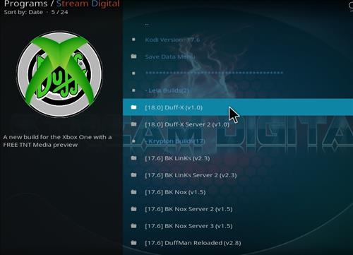 How to Install Duff-X Kodi Build Leia 18 with Screenshots step 17
