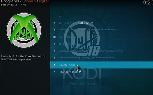 How to Install Duff-X Kodi Build Leia 18 with Screenshots step 18