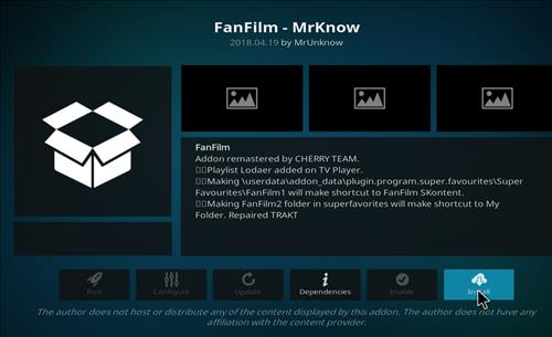 How to Install FanFilm-MrKnow Kodi Add-on Leia 18 step 18