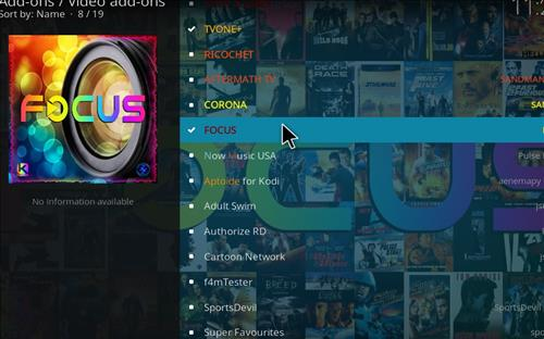 How to Install Focus Kodi Add-on with Screenshots step 17