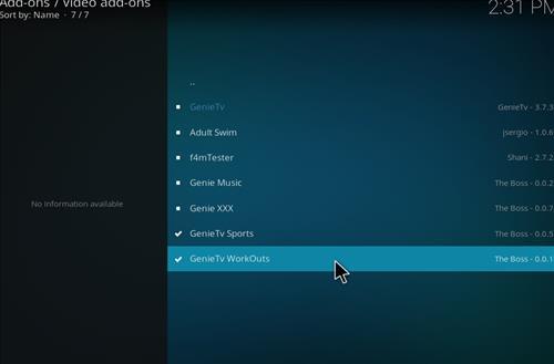 How to Install GenieTV Workouts Kodi Add-on with Screenshots step 17