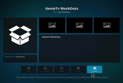 How to Install GenieTV Workouts Kodi Add-on with Screenshots step 18
