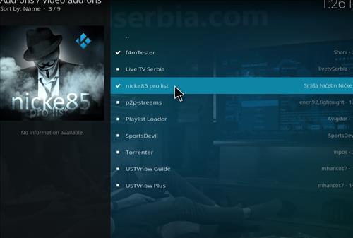 How to Install Nick85 Pro List Kodi Add-on with Screenshots