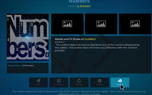 How to Install Numbers Kodi Add-on with Screenshots step 18