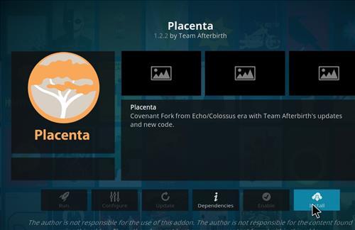 How to Install Placenta Add-on Kodi 18 Leia step 18