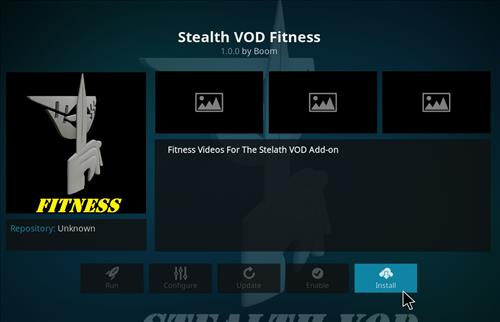 How to Install Stealth VOD Fitness Kodi Add-on with Screenshots step 18
