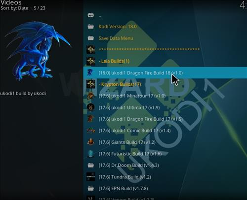 How to Install Ukodi1 Dragon Fire Kodi Build leia 18 step 24