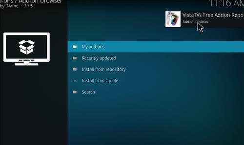 How to Install VistaTV Heaven Kodi Add-on with Screenshots step 13