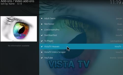 How to Install VistaTV Heaven Kodi Add-on with Screenshots step 17