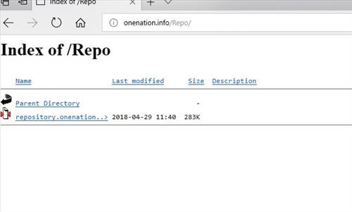 manual and download One Nation Repo step 1