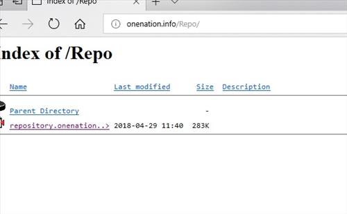 manual and download One Nation Repo step 2