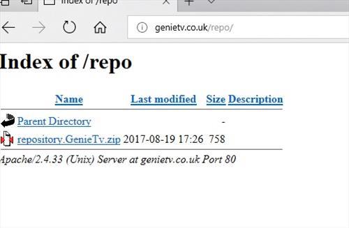 manual and download genietv repo step 1