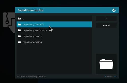 manual and download genietv repo step 5