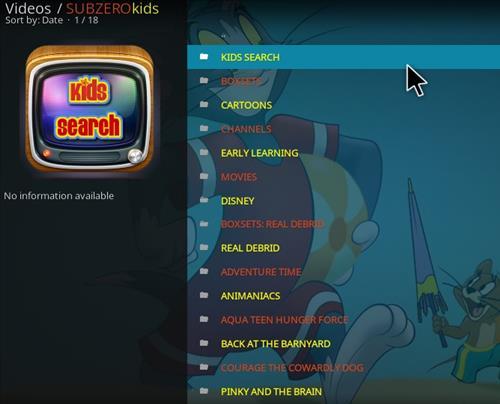 How to Install Subzero Kids Kodi Add-on with Screenshots pic 2