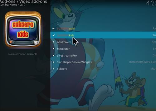 How to Install Subzero Kids Kodi Add-on with Screenshots step 17