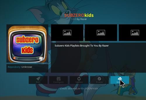 How to Install Subzero Kids Kodi Add-on with Screenshots step 18