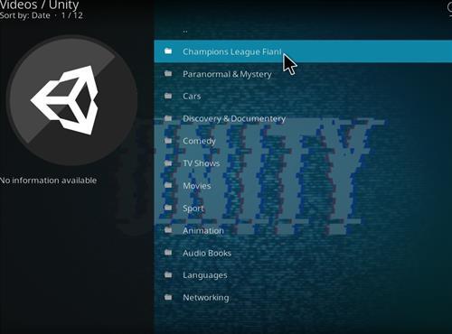 How to Install Unity Kodi Add-on with Screenshots – Whyingo