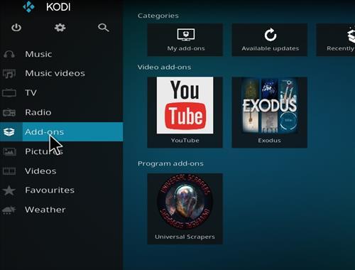 How To Install Exodus 6.0 Addon Into Kodi 17.6 Krypton step 8
