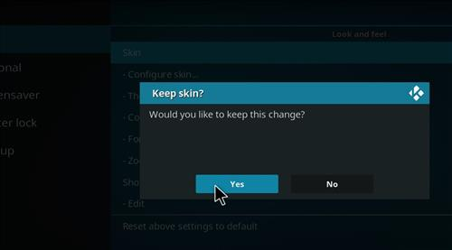 How to change the Skin back to Default Estuary revolution step 5
