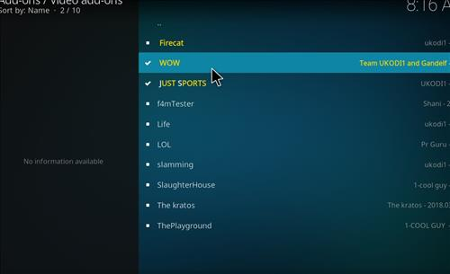 How top Install WOW Kodi Add-on with Screenshots step 17