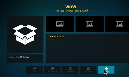 How top Install WOW Kodi Add-on with Screenshots step 18