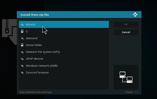 How to Install Absolut Kodi Repository with Screenshots step 11