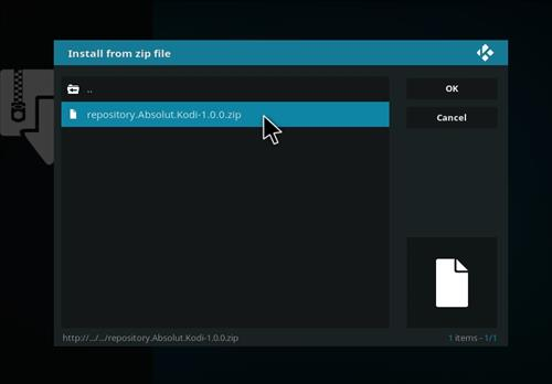 How to Install Absolut Kodi Repository with Screenshots step 12
