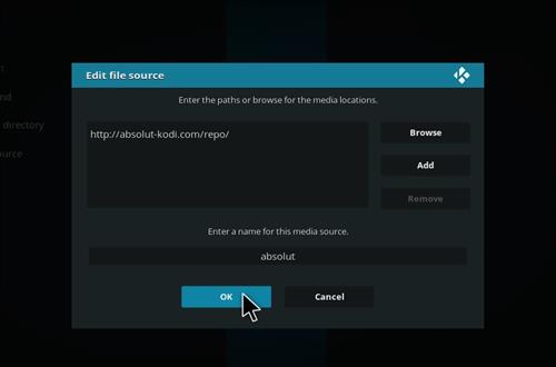 How to Install Absolut Kodi Repository with Screenshots step 7