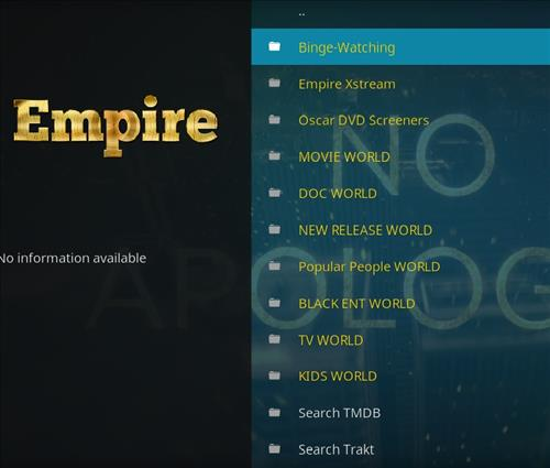 How to Install Empire Add-on on Kodi 18 Leia pic 2