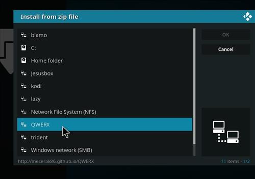 How to Install Empire Add-on on Kodi 18 Leia step 11