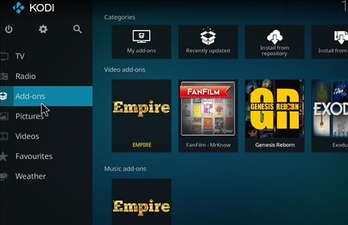 How to Install Empire Add-on on Kodi 18 Leia step 8