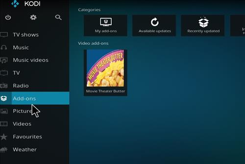 How to Install Movie Theater Butter Kodi Add-on with Screenshots step 8
