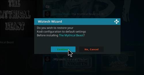 How to Install Mythical Beast Kodi Build 18 Leia step 19