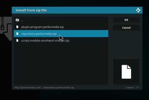 How to Install Perks Media Add-on on Kodi 18 Leia step 12