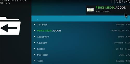 How to Install Perks Media Add-on on Kodi 18 Leia step 20
