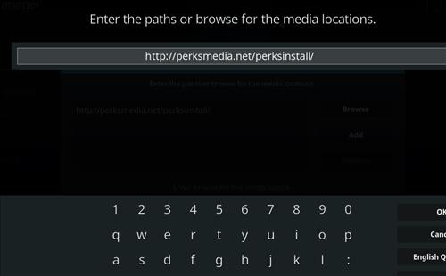 How to Install Perks Media Add-on on Kodi 18 Leia step 5