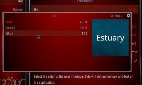 How to change the Skin back to Default Estuary gothic step 4