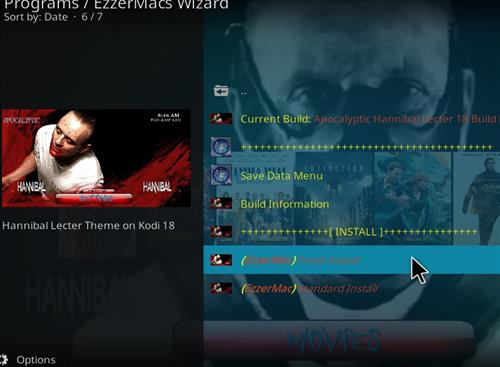 How to Install Apocalyptic Hannibal Lecter Kodi Build 18 Leia step 24